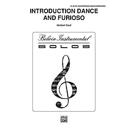 Alfred Introduction, Dance and Furioso for Alto Sax By Couf Book (00-BWI00325)