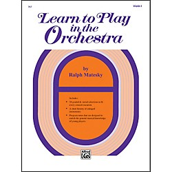 Alfred Learn to Play in the Orchestra Book 1 Violin I (00-767)