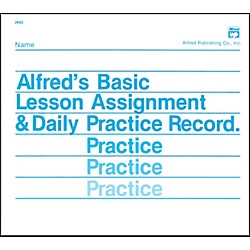 Alfred Lesson Assignment & Daily Practice Record (00-2642)