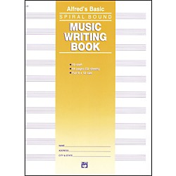 Alfred Music Writing Book (9 x 12) 10-Stave (00-177)