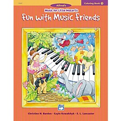 Alfred Music for Little Mozarts Coloring Book 1 -- Fun with Music Friends (00-19669)
