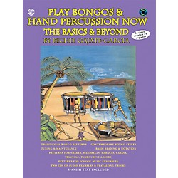 Alfred Play Bongos and Hand Percussion Now - Book and 2-CD Set (00-0637B)