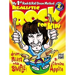 Alfred Realistic Rock for Kids (My 1st Rock & Roll Drum Method) Book & 2 CDs (00-0663B)
