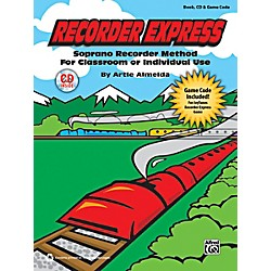 Alfred Recorder Express Book, CD & Game Code (00-39583)