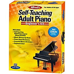 Alfred Self-Teaching Adult Piano Beginner's Kit (00-42340)
