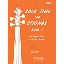 Alfred Solo Time for Strings Book 3 Viola (00-13076)
