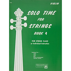 Alfred Solo Time for Strings Book 4 Violin (00-13082)