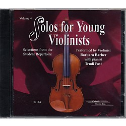 Alfred Solos for Young Violinists Vol. 4 (CD) (00-8014X)