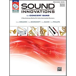 Alfred Sound Innovations for Concert Band Book 2 Percus,Sn,Bass/Acc. Book CD/DVD (00-34565)