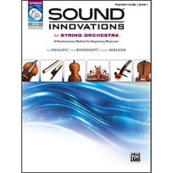 Alfred Sound Innovations for String Orchestra Book 1 Conductor's Score CD/ DVD (00-34592)