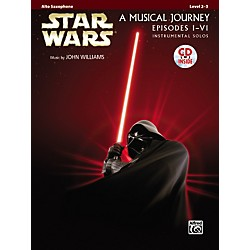 Alfred Star Wars Alto Sax Instrumental Solos (Movies I-VI) Book & CD (00-32107)