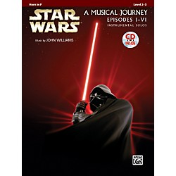 Alfred Star Wars Instrumental Solos (Movies I-VI) Horn in F Book & CD (00-32116)