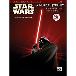 Alfred Star Wars Instrumental Solos for Strings (Movies I-VI) Cello Book & CD (00-32131)