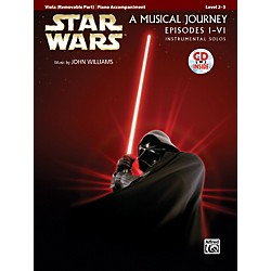 Alfred Star Wars Instrumental Solos for Strings (Movies I-VI) Viola Book & CD (00-32128)