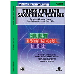 Alfred Student Instrumental Course Tunes for Alto Saxophone Technic Level I Book (00-BIC00133A)