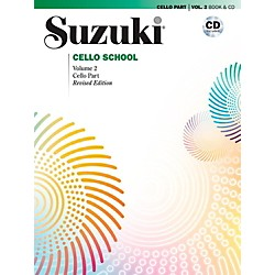Alfred Suzuki Cello School Book & CD Volume 2 (Revised) (00-40700)
