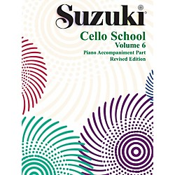 Alfred Suzuki Cello School Piano Accompaniment Volume 6 (Book) (00-0271S)