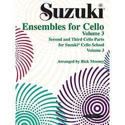 Alfred Suzuki Ensembles for Cello Volume 3 (Book) (00-0299S)