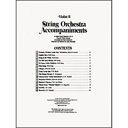 Alfred Suzuki String Orchestra Accompaniments to Solos from Volumes 1 & 2 for Violin 2 Book (00-0320)