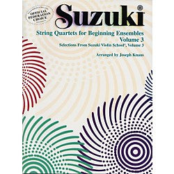 Alfred Suzuki String Quartets for Beginning Ensembles Volume 3 (Book) (00-0283S)