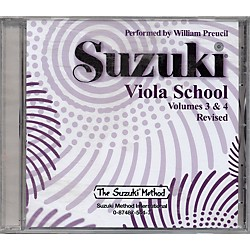 Alfred Suzuki Viola School Volumes 3 & 4 (CD) (00-0544)