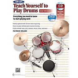 Alfred Teach Yourself to Play Drums (2nd Edition) Book & CD (00-41484)