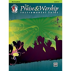 Alfred Top Praise & Worship Instrumental Solos - Alto Sax, Level 2-3 (Book/CD) (00-34228)