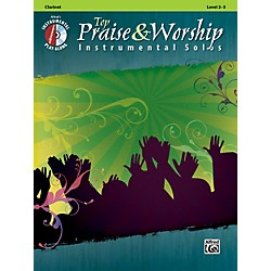 Alfred Top Praise & Worship Instrumental Solos - Clarinet, Level 2-3 (Book/CD) (00-34225)