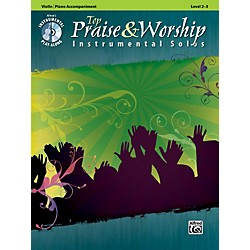 Alfred Top Praise & Worship Instrumental Solos - Violin, Level 2-3 (Book/CD) (00-34246)