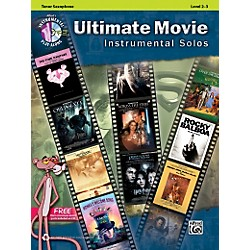 Alfred Ultimate Movie Instrumental Solos for Tenor Sax Book & CD (00-40114)