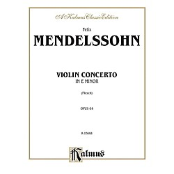 Alfred Violin Concerto Op. 64 for Violin By Felix Mendelssohn / arr. Carl Flesch Book (00-K03668)