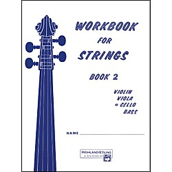 Alfred Workbook for Strings Book 2 Cello (00-13176)