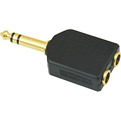"American Recorder Technologies 1/4"" Male Stereo to Two 1/4"" Female Stereo Adapter (EA-368G)"