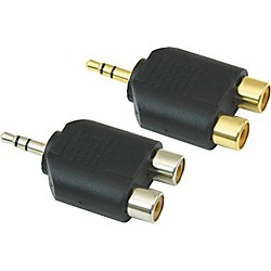 "American Recorder Technologies 1/8"" Male Stereo To Two RCA Female Adapter (EA-451G)"