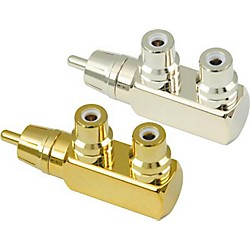 American Recorder Technologies RCA Male to 2 RCA Female Right Angle Adapter (MR-55G)
