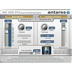 Antares Mic Mod EFX (VST/ AU/ RTAS) Software Download (1015-19)