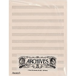 Archives Archives 10 Stave 50 Sheet (SL10S)