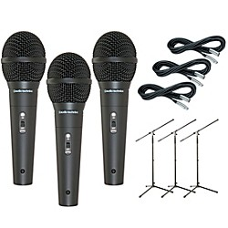 Audio-Technica M4000S 3-Pack Mic and Stand Kit (KIT773146)