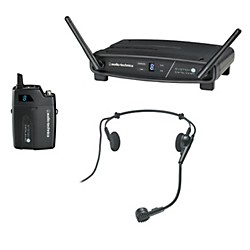 Audio-Technica System 10 2.4GHz Digital Wireless Headset System w/ PRO-8HECW (ATW-1101/H)