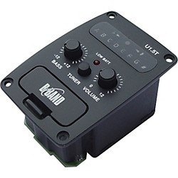 B-Band U1.5T Onboard Sidemount Ukulele Preamp with Chromatic Tuner and Undersaddle Pickup (U1.5T-24R)