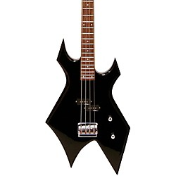 B.C. Rich Bronze Warlock Electric Bass Guitar (WBBK Black)