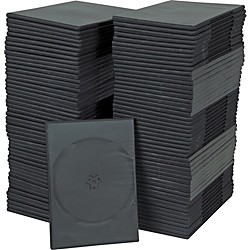 BK Media 7mm Slim DVD Cases 100-pack (S-DVD-BLK-1MC-GIT)