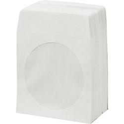 BK Media CD & DVD Paper Sleeves with Window 100-Pack (PPRSLV-100)