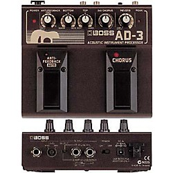 BOSS AD-3 Acoustic Guitar Multi Effects Pedal (AD-3)