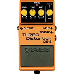 BOSS DS-2 Turbo Distortion Pedal with Remote Jack (DS-2)