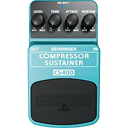 Behringer CS400 Compressor/Sustainer Guitar Effects Pedal (CS400)