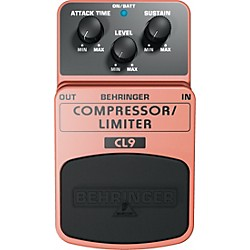 Behringer Compressor/Limiter CL9 Guitar Effects Pedal (CL9)