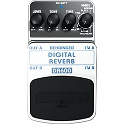 Behringer DR600 Digital Stereo Reverb Guitar Effects Pedal (DR600)