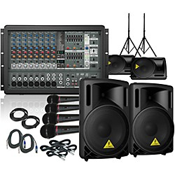 Behringer PMP1680S / B212XL Mains and Monitors PA Package (PMP1680SB212XLMM)