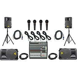 Behringer PMP4000/B212XL Mains & Monitors PA Package (PMP4000B1520XL)